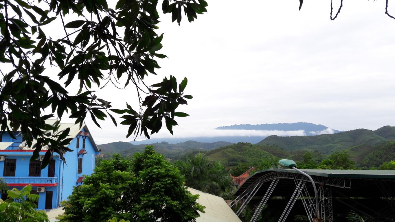 1 góc nhìn từ trên đồi, du khách buổi sáng có thể leo bộ lên đây vãn cảnh và hít thở không khí trong lành, khu đồi thông có diện tích 5 hecta